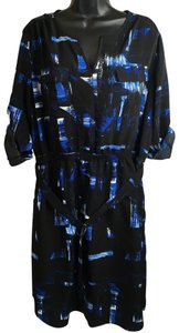 Mossimo Supply Co. Size Xl 3/4 Sleeves J-14 Top Black Blue
