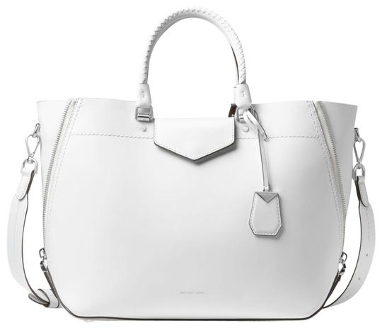 Michael Kors Leather 30s8szlt3l Tote in Optic White