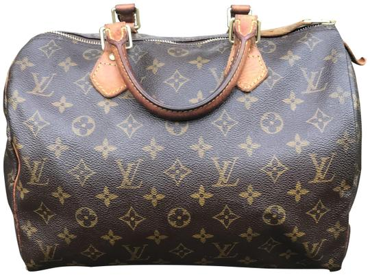 Preload https://item1.tradesy.com/images/louis-vuitton-speedy-monogram-brown-leather-satchel-23973430-0-2.jpg?width=440&height=440