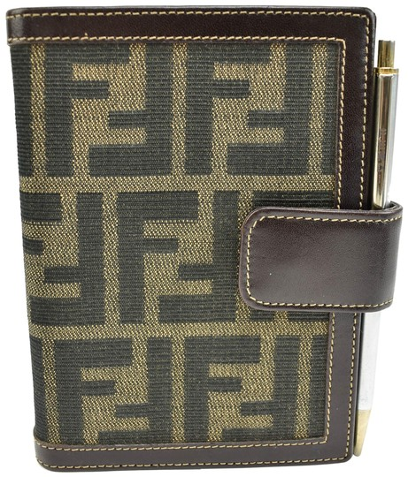 Preload https://img-static.tradesy.com/item/23973469/fendi-zucca-brown-leather-and-ff-logo-agendafolding-m-wallet-0-1-540-540.jpg