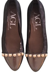Atilio Houston Leombruni black golden Flats