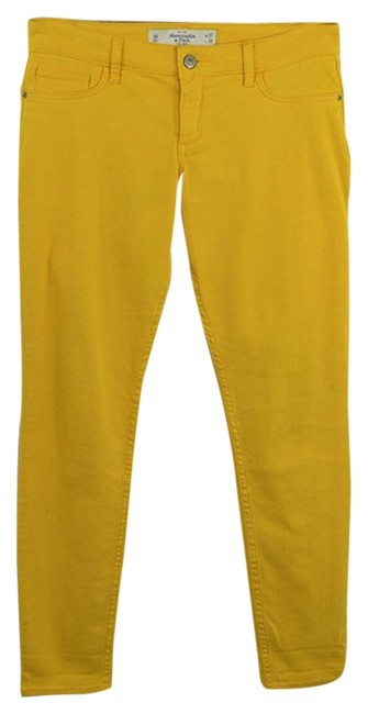 Preload https://item3.tradesy.com/images/abercrombie-and-fitch-yellow-dark-rinse-150-1-skinny-jeans-size-27-4-s-23973507-0-1.jpg?width=400&height=650