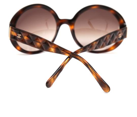 Chanel CHANEL Sunglasses Round Tortoise Brown Quilted 5120 c.502/13