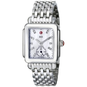Michele Stainless Bracelet Mother of Pearl Diamond Dial Deco MWW06V000002