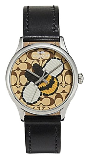 Preload https://item1.tradesy.com/images/coach-black-ruby-limited-edition-leather-strap-honey-bee-w1546-watch-23973540-0-1.jpg?width=440&height=440