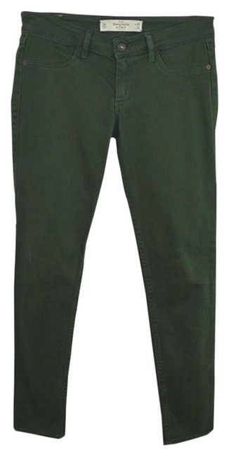 Preload https://img-static.tradesy.com/item/23973543/abercrombie-and-fitch-green-dark-rinse-150-2-skinny-jeans-size-26-2-xs-0-1-650-650.jpg