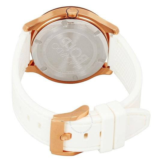Movado Silicone Strap Rose Gold Dial Bold 3600411 Swiss Sport