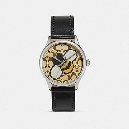 Coach COACH limited edition RUBY LEATHER STRAP WATCH honey bee W1546