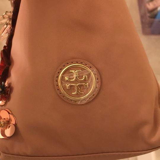 Tory Burch Tote in Rose Gold Embellished Floral Tote