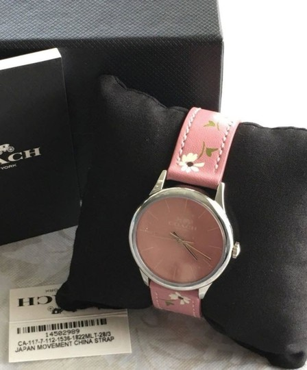 Coach COACH RUBY WATCH limited edition LEATHER STRAP daisy floral W1546