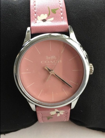 Coach COACH limited edition RUBY LEATHER STRAP WATCH daisy floral W1546