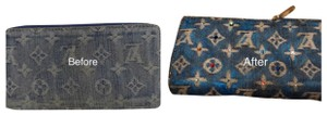 Louis Vuitton Louis Vuitton Blue Denim Zippy Wallet