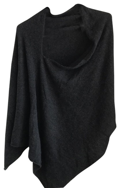Preload https://item1.tradesy.com/images/charcoal-grey-cashmere-poncho-sweaterpullover-size-os-one-size-23973585-0-1.jpg?width=400&height=650