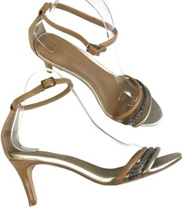 Ann Taylor Ankle Strap Tan Sandals