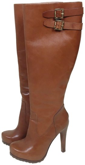 Rachel Zoe Knee High Leather Cognac brown Boots