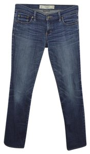 Abercrombie & Fitch Denim Cotton Fall Winter Casual Straight Leg Jeans-Light Wash