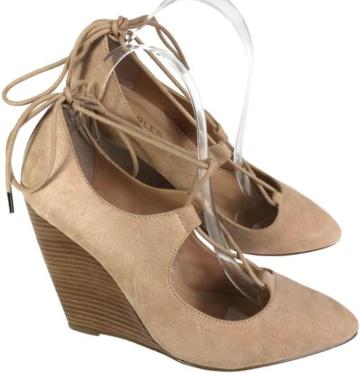 Preload https://item5.tradesy.com/images/charles-david-tan-by-women-s-suede-lace-up-wedges-size-us-9-regular-m-b-23973659-0-1.jpg?width=440&height=440
