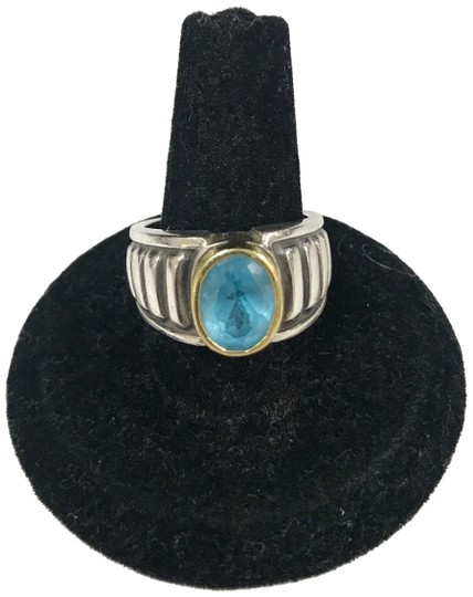 Preload https://img-static.tradesy.com/item/23973660/lagos-blue-caviar-18k-yellow-gold-and-sterling-silver-topaz-ring-0-2-540-540.jpg