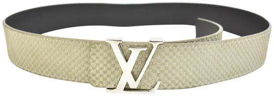 Preload https://item2.tradesy.com/images/louis-vuitton-gray-leather-and-lv-logo-fits-32-36-o-belt-23973666-0-1.jpg?width=440&height=440
