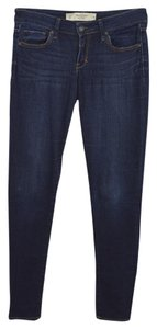 Abercrombie & Fitch Denim Fall Winter Casual Skinny Jeans-Dark Rinse
