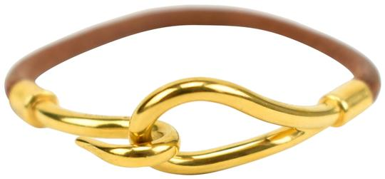 Preload https://item3.tradesy.com/images/hermes-single-tour-brown-leather-and-gold-plated-hook-mn-bracelet-23973707-0-1.jpg?width=440&height=440