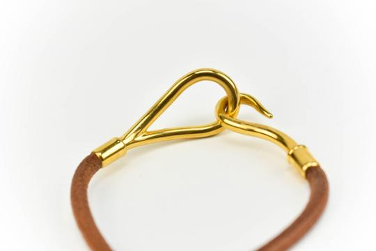 Hermès Leather & Gold-Plated Hook (mn)