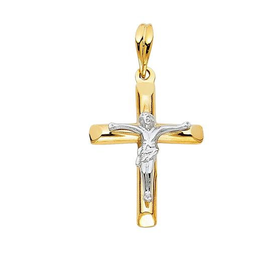 Preload https://item5.tradesy.com/images/two-tone-gold-14k-religious-crucifix-pendant-charm-23973709-0-0.jpg?width=440&height=440