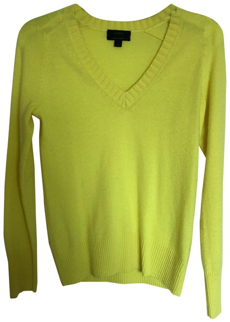 Preload https://img-static.tradesy.com/item/23973714/jcrew-bright-yellow-sweaterpullover-size-0-xs-0-1-650-650.jpg