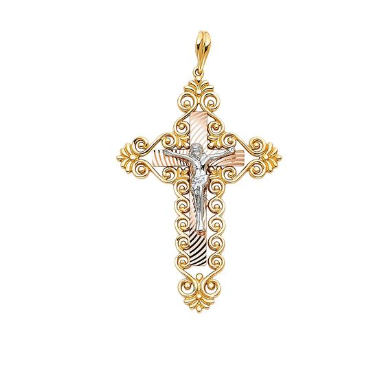 Preload https://item3.tradesy.com/images/tri-color-gold-14k-religious-crucifix-pendant-charm-23973727-0-0.jpg?width=440&height=440