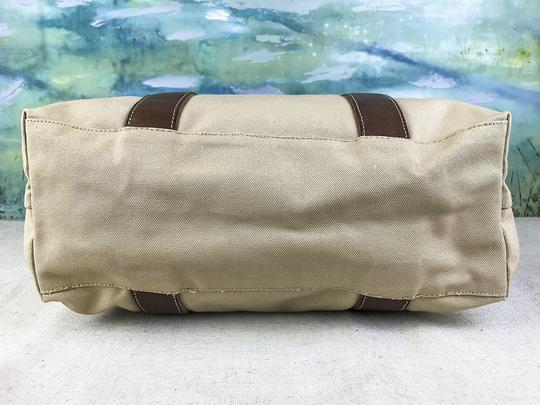 Prada Canvas Logo Tote in Beige