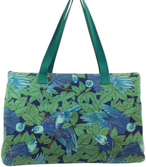 Preload https://item1.tradesy.com/images/hermes-parrot-cabas-green-canvas-tote-23973750-0-3.jpg?width=440&height=440