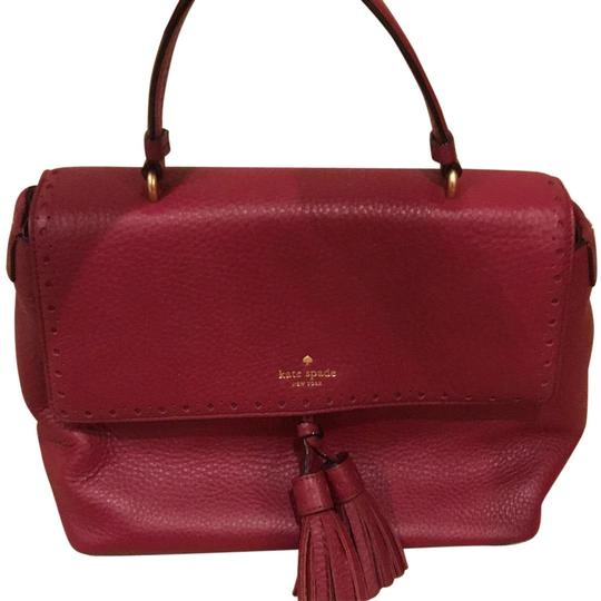 Preload https://img-static.tradesy.com/item/23973751/kate-spade-cranberry-leather-satchel-0-1-540-540.jpg