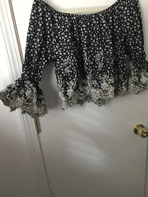 Romeo & Juliet Couture Top Black and White