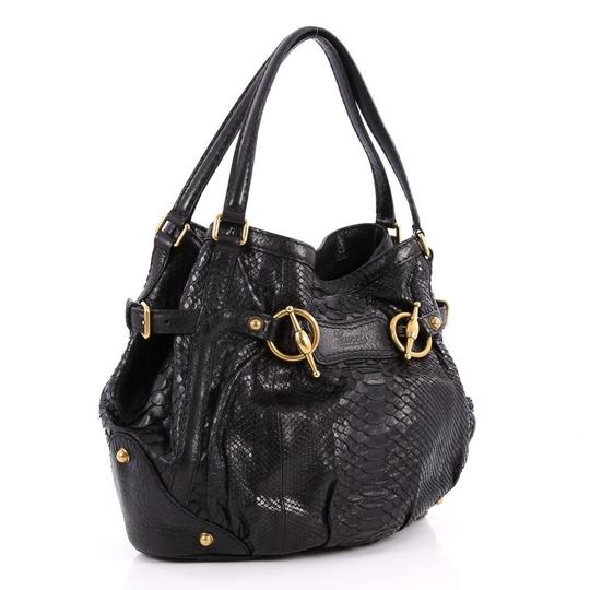 Gucci Pyhton Tote in Black