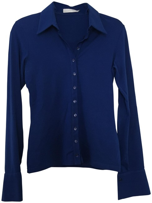 Preload https://img-static.tradesy.com/item/23973775/anne-fontaine-royal-blue-button-down-top-size-6-s-0-1-650-650.jpg