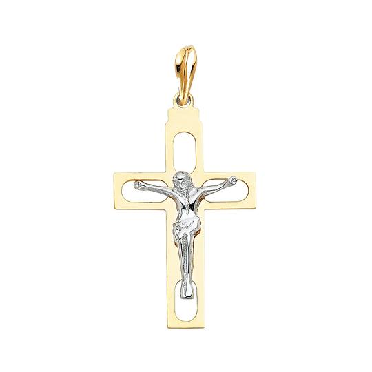 Preload https://item4.tradesy.com/images/two-tone-gold-14k-religious-crucifix-pendant-charm-23973843-0-0.jpg?width=440&height=440
