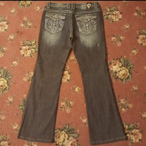 Cello Jeans Boot Cut Jeans-Distressed