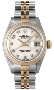 Rolex 18k/Ss Ladies Datejust with Ivory Jubilee Dial Watch