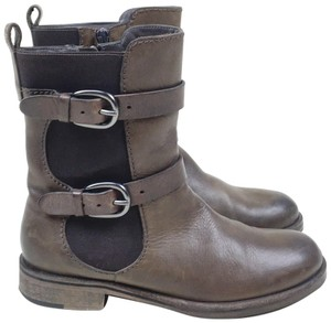 Henry Beguelin Moto Midcalf Leather Boots