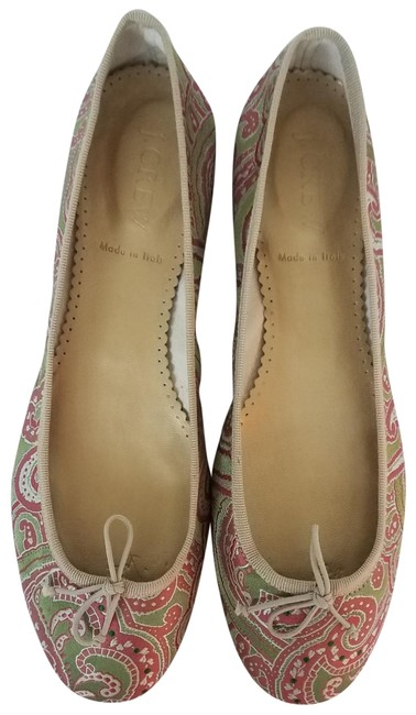 Item - Pink Green and Taupe. Lizette Ballet Flats Size US 7.5 Regular (M, B)