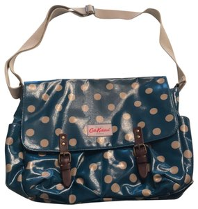 Cath Kidston Teal, with Cream Colored Dots Messenger Bag