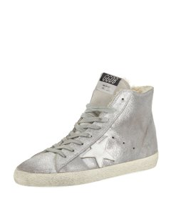 Golden Goose Deluxe Brand Francy Ggdb Shearling Silver Athletic