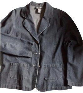Denim & Co. Jacket Patch Pockets Button Tabs On Back Casual Wear Cardigan