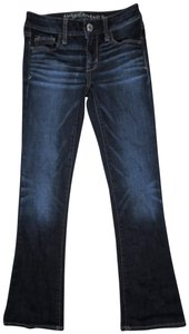 American Eagle Outfitters Kick Super Stretch Lowrise Stretchy Skinny Jeans-Medium Wash