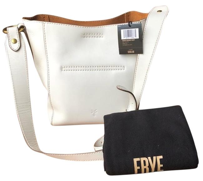 Item - Bucket Harness In Off-white Leather Cross Body Bag