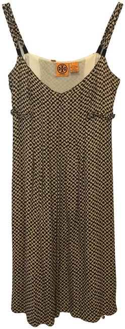 Item - Black and Beige Short Night Out Dress Size 4 (S)