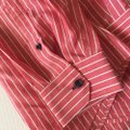 Jared Lang Coral New Striped Button-down Top Size 22 (Plus 2x) Jared Lang Coral New Striped Button-down Top Size 22 (Plus 2x) Image 4