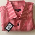 Jared Lang Coral New Striped Button-down Top Size 22 (Plus 2x) Jared Lang Coral New Striped Button-down Top Size 22 (Plus 2x) Image 5