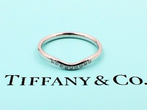Tiffany Co F Elsa Peretti Curved Diamond Ring In Platinum Women S