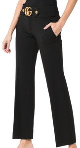 Gucci Marmont Viscose Cropped Straight Pants Black